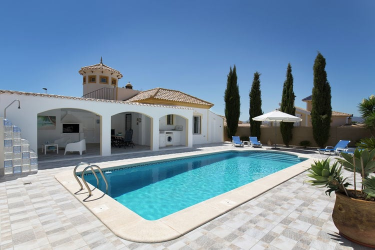 Vakantiehuis met zwembad met wifi aan zee Mazarron  Palomas