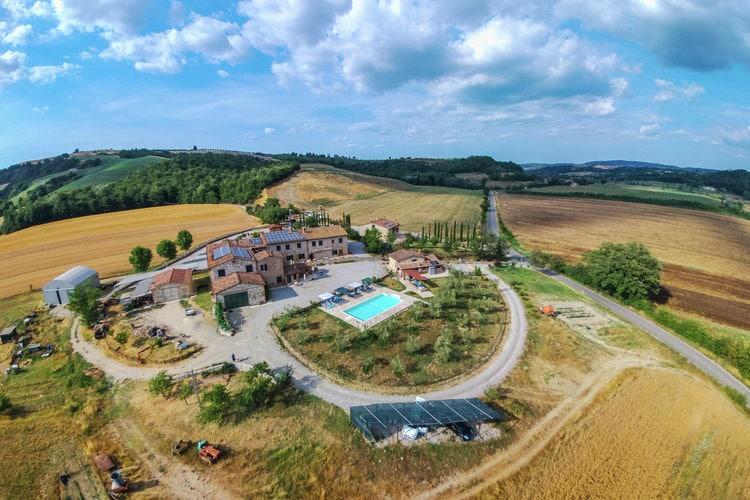 Vakantiewoning Italië, Toscana, Asciano Boerderij IT-53041-13