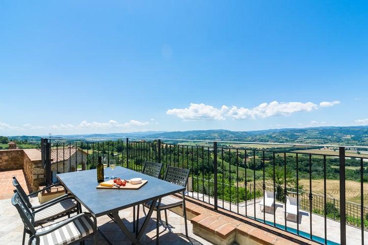 Woning Italie | Umbrie | Vakantiehuis te huur in Piedicolle met zwembad  met wifi 6 personen
