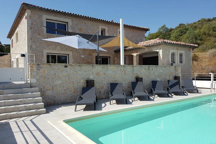 Saint-Ambroix Vakantiewoningen te huur Villa met zwembad en gastenverblijf in schitterende omgeving Saint-Ambroix