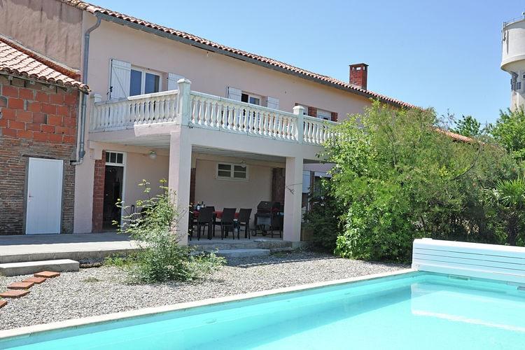 Frankrijk | Midi-Pyrenees | Villa te huur in Nailloux met zwembad  met wifi 8 personen