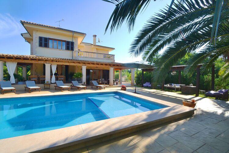 Vakantiehuizen Spanje | Mallorca | Vakantiehuis te huur in Palma-de-Mallorca met zwembad  met wifi 8 personen
