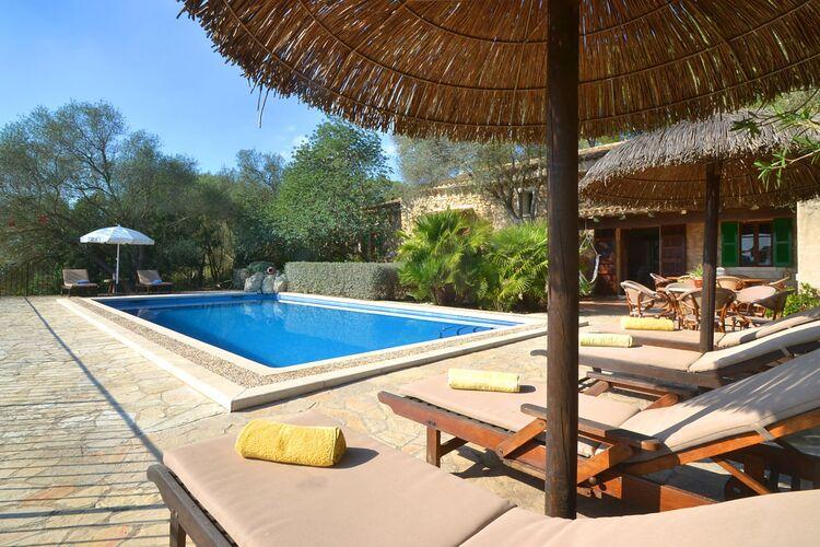 Vakantiehuizen Spanje | Mallorca | Vakantiehuis te huur in Sineu met zwembad  met wifi 7 personen