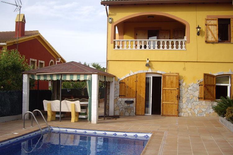 Vakantiehuis met zwembad met wifi  El Vendrell  Casa  Las Palmeras