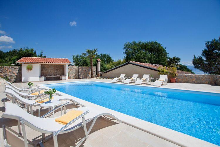 Kroatie | Kvarner | Villa te huur in Lovran met zwembad  met wifi 8 personen