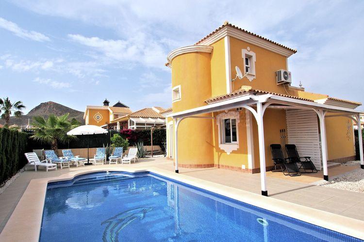 Costa Calida Vakantiewoningen te huur Vrijstaand vakantiehuis, 6 personen met privé-zwembad op resort nabij Mazarrón