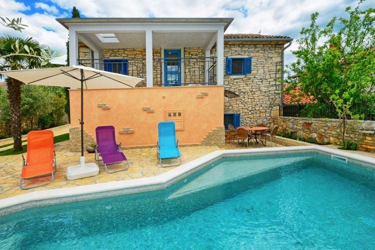 Vakantiehuizen Kroatie | Istrie | Vakantiehuis te huur in Sveti-Lovre met zwembad  met wifi 4 personen