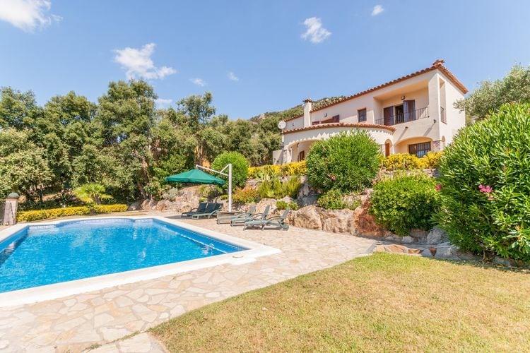 Villa huren in Calonge - met zwembad  met wifi met zwembad voor 6 personen  Uitkijkend over het Les Gavarres g..
