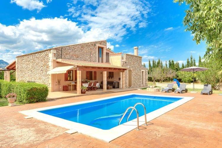 Vakantiehuizen Spanje | Mallorca | Vakantiehuis te huur in Buger met zwembad  met wifi 6 personen