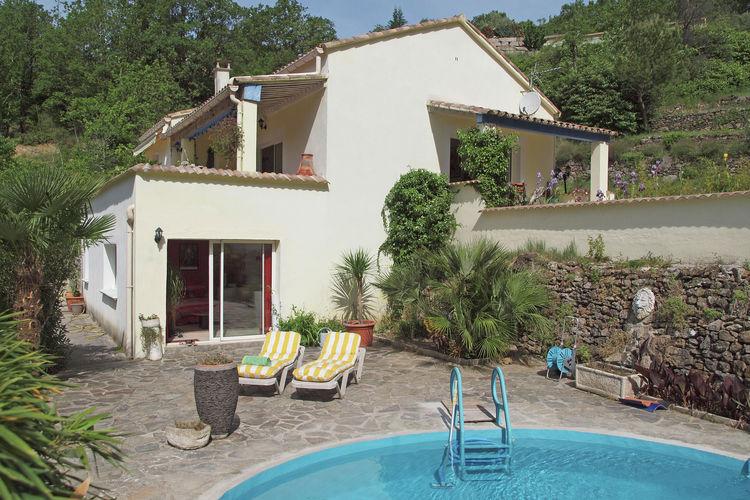 Villa huren in Molieres-sur-Ceze - met zwembad  met wifi met zwembad voor 4 personen  Via een privé oprijlaan bereikt u..