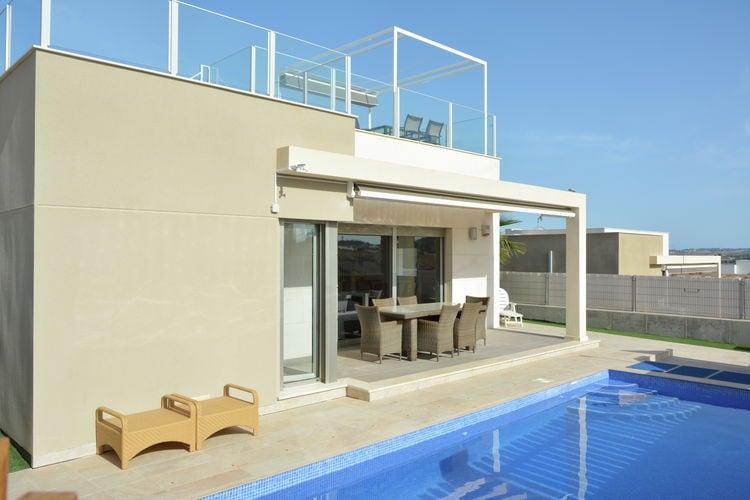 Spanje | Costa-Blanca | Villa te huur in Orihuela met zwembad  met wifi 6 personen