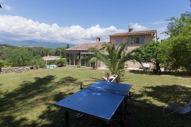 Mougins Vakantiewoningen te huur Mooie villa met groot prive-zwembad, terras en tuin, dicht bij Mougins en Grasse