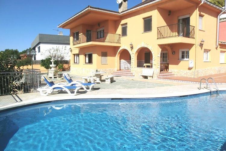 Vakantiehuizen Spanje | Costa-Brava | Villa te huur in Blanes met zwembad  met wifi 10 personen