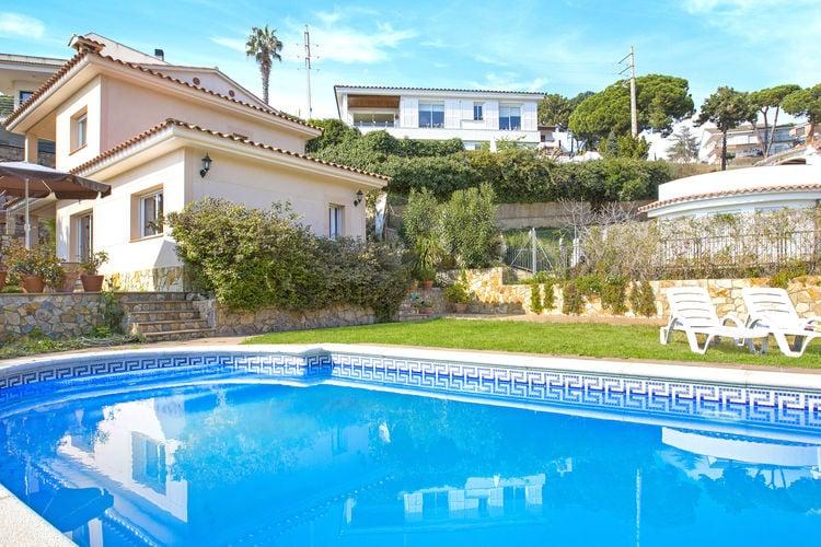 Vakantiehuizen Spanje | Costa-Brava | Villa te huur in Lloret-de-Mar-Canyelles met zwembad  met wifi 6 personen