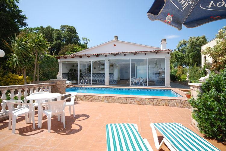 Lloret-de-mar Vakantiewoningen te huur Vrijstaande villa met wifi en mooi uitzicht op enkele minuten van Lloret de Mar