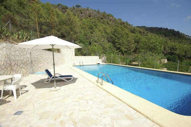 Vakantiehuizen Spanje | Valencia | Villa te huur in Adsubia-Forna met zwembad   10 personen