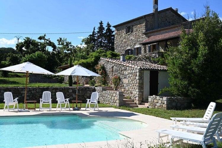 Villas Frankrijk | Ardeche | Villa te huur in Largentiere met zwembad  met wifi 8 personen