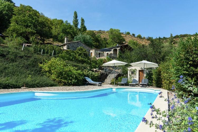 Villa met zwembad met wifi  ArdecheVakantie woning - Pourchères