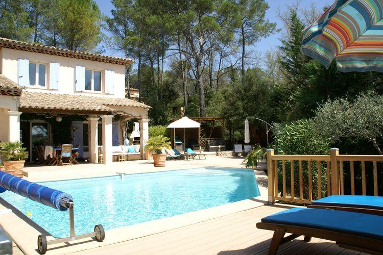Vakantiehuizen Frankrijk | Provence-alpes-cote-d-azur | Villa te huur in Lorgues met zwembad  met wifi 8 personen