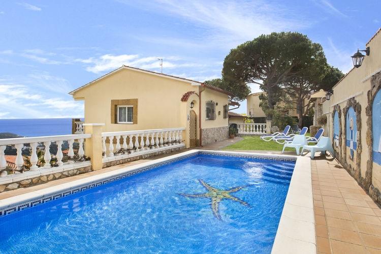 Villa met zwembad met wifi  Lloret-de-marVilla Crisantemo