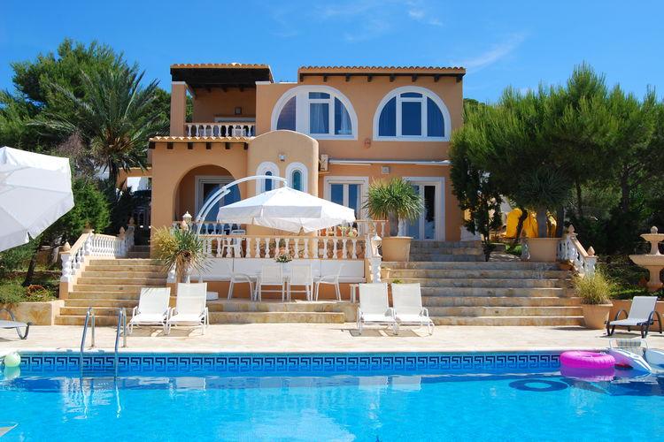 Vakantiehuizen Spanje | Ibiza | Villa te huur in Cala-Conta met zwembad  met wifi 7 personen