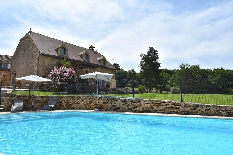 Vakantiehuis met zwembad met wifi  MeyralsMaison de vacances Les Eyzies de Tayac Meyrals