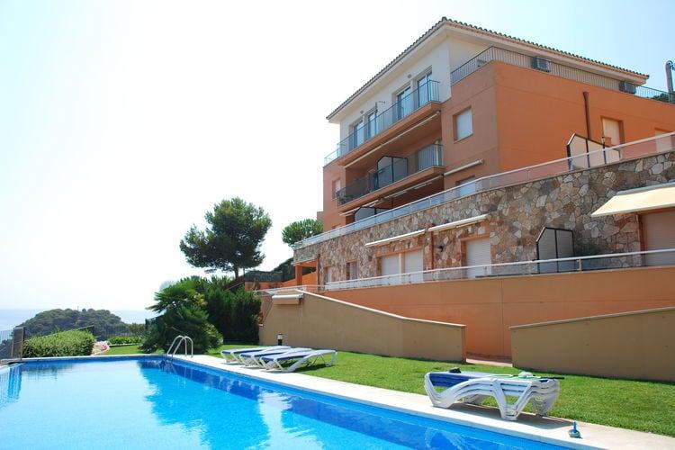 Spanje | Costa-Brava | Appartement te huur in Sant-Feliu-de-Guixols met zwembad  met wifi 4 personen