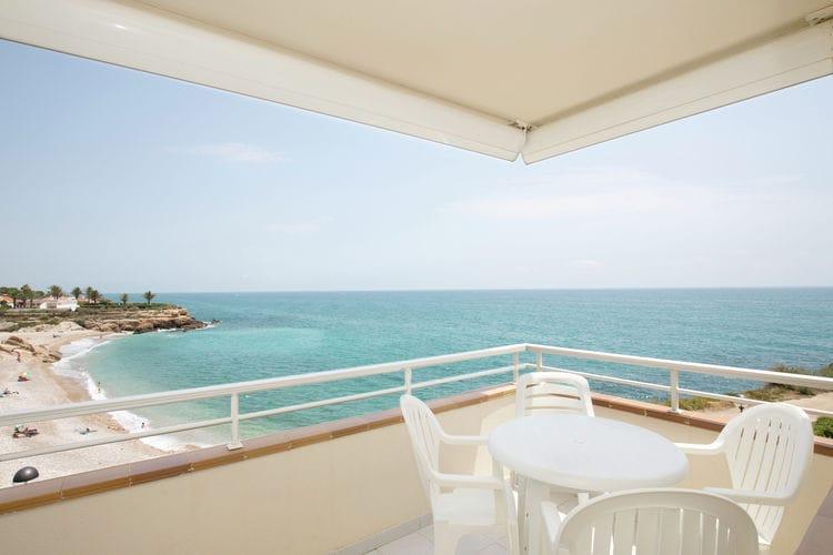 Spanje | Costa-del-Azahar | Appartement te huur in Vinaros met zwembad  met wifi 5 personen