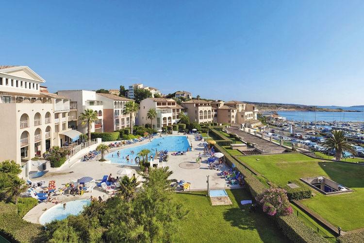 Six-Fours-Les-Plages Vakantiewoningen te huur Net en ruim appartement in een mooie résidence met zwembad nabij strand en zee