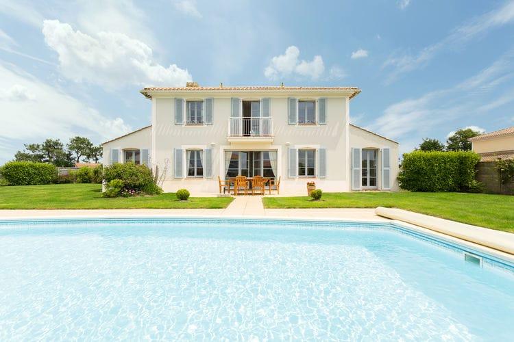 Villas Frankrijk   Pays-de-la-loire   Villa te huur in St-Gilles-Croix-De-Vie met zwembad  met wifi 8 personen