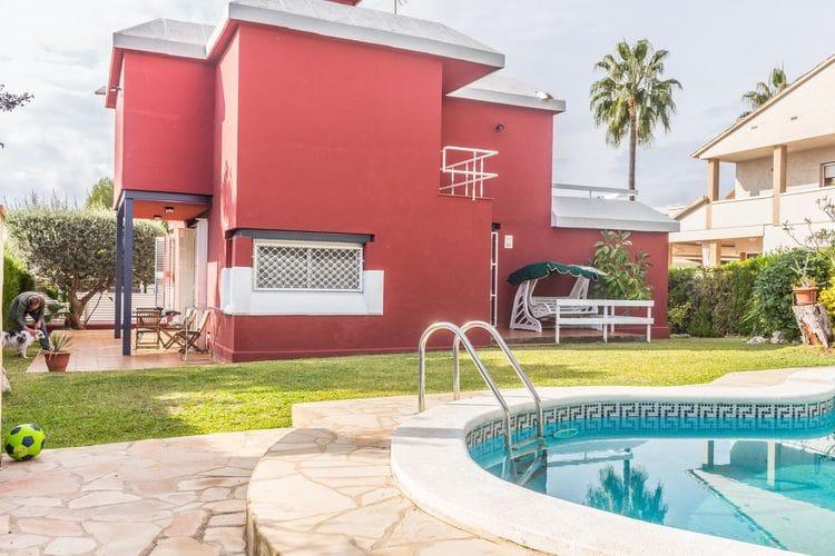 Vakantiehuis met zwembad met wifi  El Vendrell  La Casa Roja