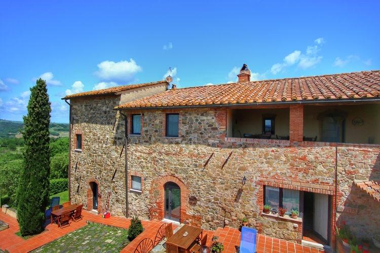 Vakantiehuizen Italie | Toscana | Boerderij te huur in Castiglione-Dorcia met zwembad  met wifi 6 personen