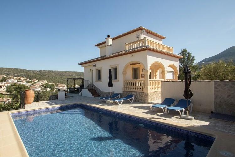 Vakantiehuizen Spanje | Costa-Blanca | Vakantiehuis te huur in Alcalali met zwembad  met wifi 6 personen