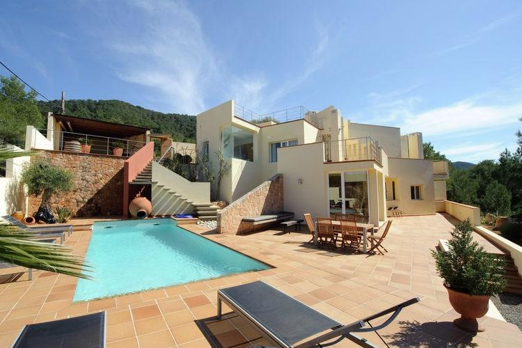 Ibiza Vakantiewoningen te huur Moderne stijlvolle villa op Ibiza met jacuzzi en prive-zwembad vlakbij San Jose