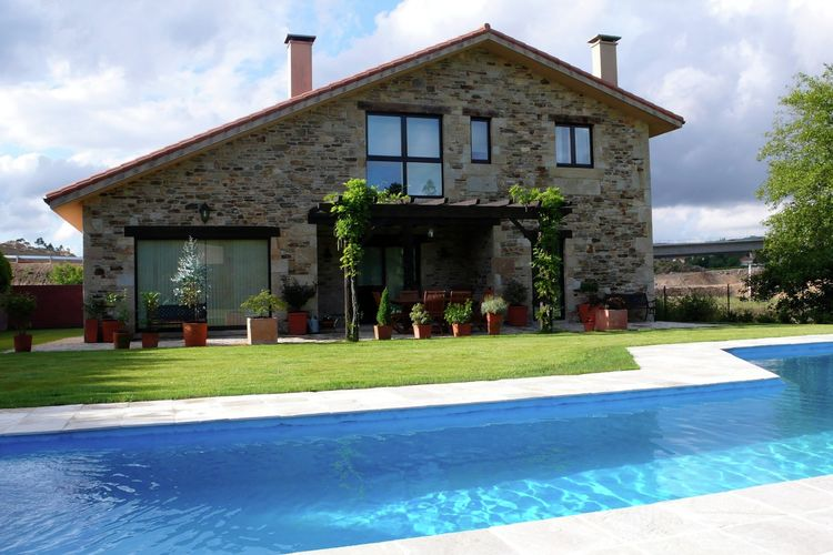 Vakantiehuizen Spanje | Het-Groene-Spanje | Vakantiehuis te huur in Costoia-Ames-a-Corua met zwembad  met wifi 6 personen