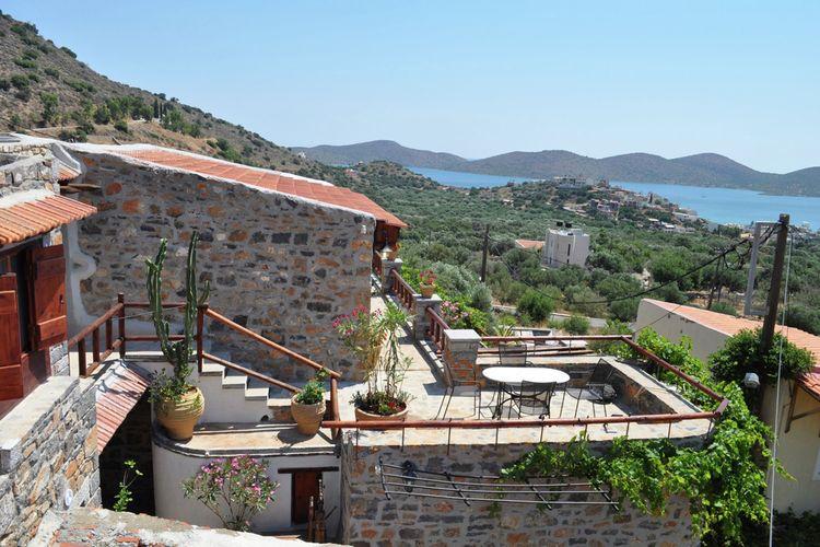 Vakantiehuis  met wifi  Elounda  Art Traditional Villas, 18e C complex 3 app., 1 huis, 1 studio, dichtbij zee