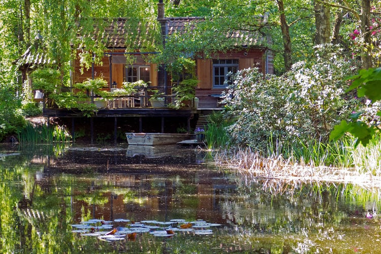 Opglabbeek Chalets te huur Knus chalet op privéterrein midden in de bossen met eigen vijver en roeibootje