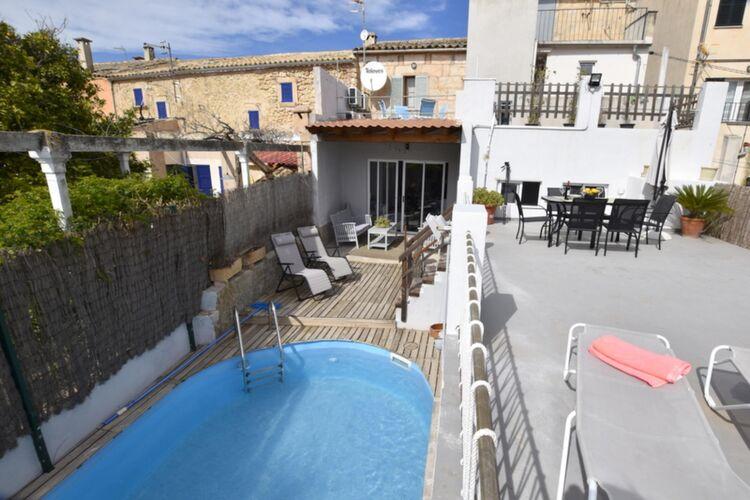 Vakantiehuizen Spanje   Mallorca   Vakantiehuis te huur in Campanet met zwembad  met wifi 6 personen