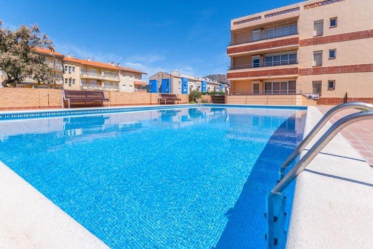 Appartement met zwembad met wifi  Costa BravaFSE 4 o 6 terraza