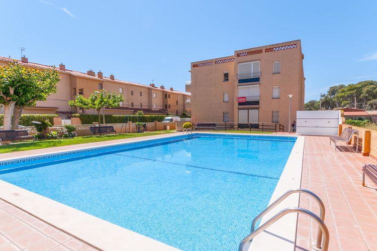 Appartement met zwembad met wifi  Costa BravaFSE 4 o 6 baja terraza