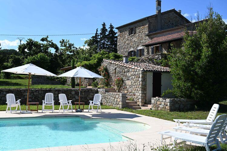 Villas Frankrijk | Ardeche | Villa te huur in Largentiere met zwembad  met wifi 5 personen