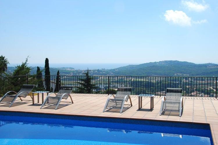 Vakantiehuizen Spanje | Costa-Brava | Villa te huur in Castell-dAro met zwembad  met wifi 11 personen