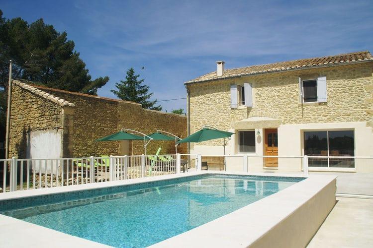 Vakantiehuizen Frankrijk | Languedoc-roussillon | Villa te huur in Aubais met zwembad  met wifi 6 personen