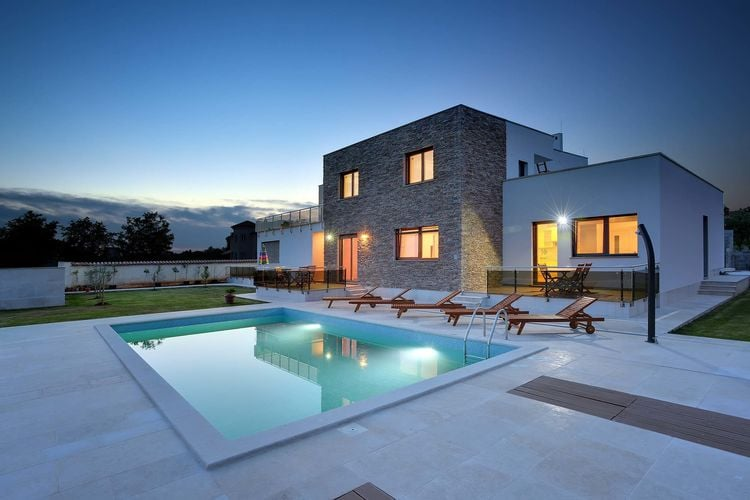 Kroatie | Istrie | Villa te huur in Medulin met zwembad  met wifi 6 personen