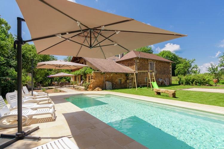 Vakantiehuis met zwembad met wifi  DordogneLes Raneaux 12P