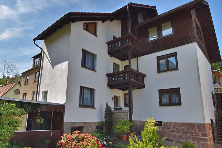 Appartement  met wifi  Steinbach-Hallenberg  Vakantiewoning aan de Rennsteig in het Thüringerwoud met aparte ingang en tuin