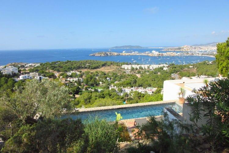 Ibiza Villas te huur Schitterend uitzicht over de baai van Talamanca en Ibiza stad
