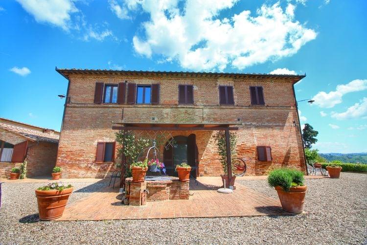 Buonconvento Vakantiewoningen te huur Agriturismo met uitzicht van 360 graden over de Toscaanse heuvels