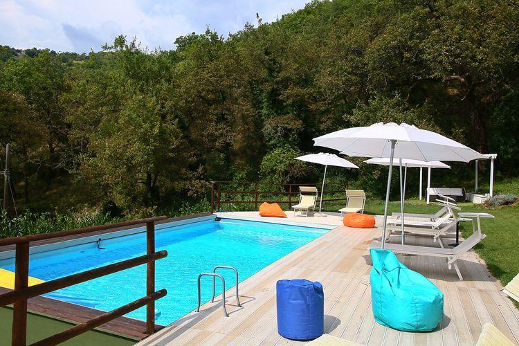Vakantiehuizen Italie | Marche | Villa te huur in Fabriano met zwembad  met wifi 6 personen