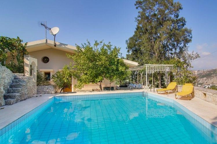 Griekenland | Kreta | Villa te huur in Malades met zwembad  met wifi 7 personen